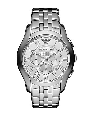 Round Stainless Steel Chronograph Watch