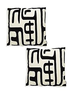 Geometric Print Pair of Pillows