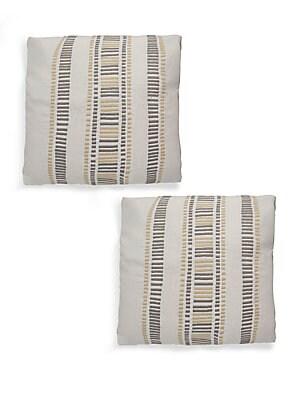 Geometric-Print Cotton Pillow Set