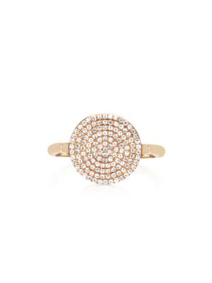 Ef Collection  DISC DIAMOND AND 14K YELLOW GOLD RING