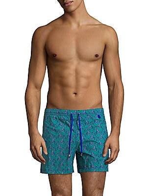 Paisley-Print Swim Shorts