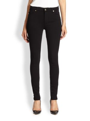 7 For All Mankind  HIGH-WAIST SKINNY DOUBLE-KNIT JEANS