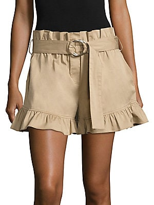 Braxton Belted Ruffled Shorts