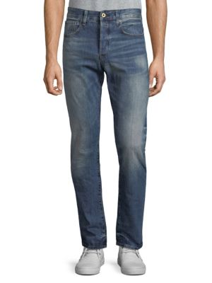 G-STAR RAW Slim-Fit Deconstructed Jeans in Blue