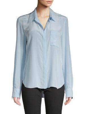 Diane Von Furstenberg Carter Silk Button-Down Shirt