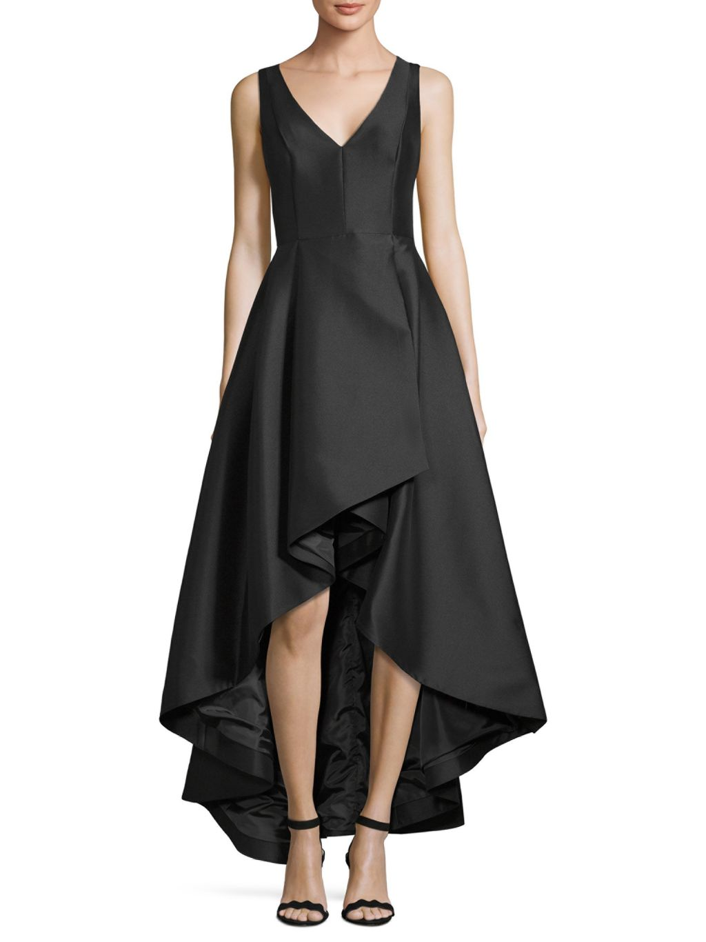 Calvin Klein A-Line Hi-Lo Gown