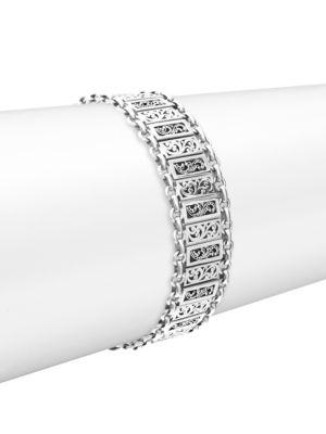 Lois Hill  Silver Small Classic Alternating Bracelet