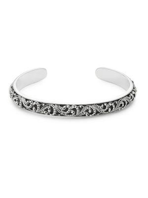Lois Hill  Sterling Silver Swirl Cuff Bracelet