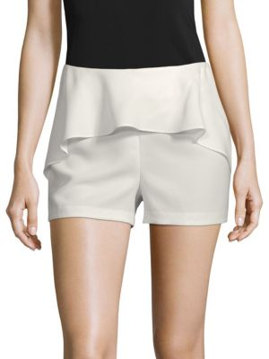 Scripted Ruffle Front Shorts