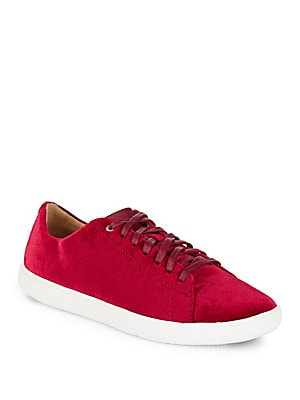 Grand Crosscourt Velvet Lace-Up Sneakers