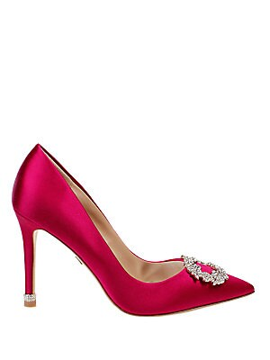 Nichole Embellished Satin Pumps