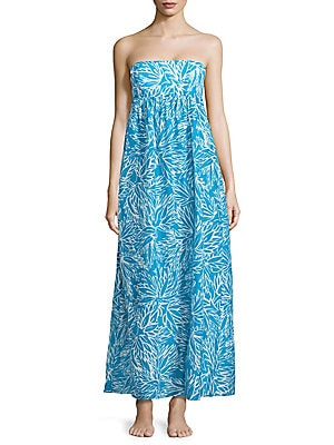 Vedetta Lotus Printed Smocked Gown