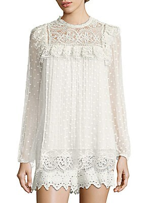 Meridian Circle Lace Top