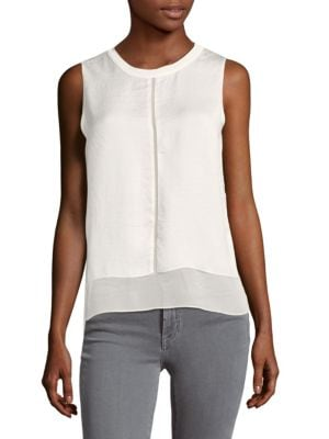 Saks Fifth Avenue  TIERED WOVEN BLOUSE