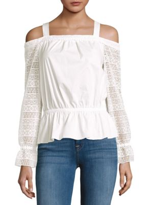 Ramy Brook  Lace-Sleeve Blouse