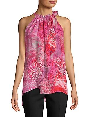 Carmen Floral Silk Blouse