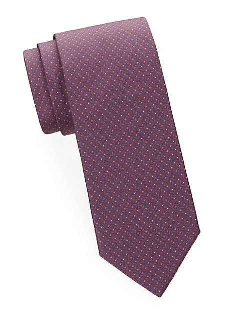 Abstract Geometric Silk Tie