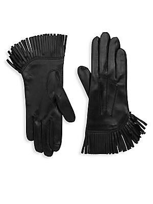Cowboy Fringe Leather Gloves