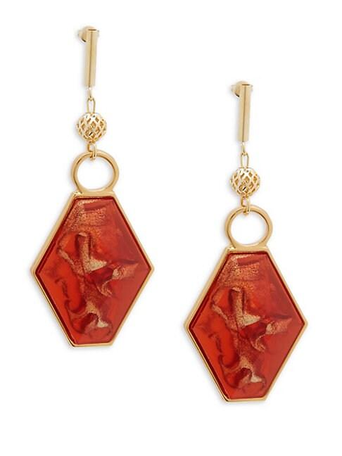 Geometric-Shaped Drop Earrings