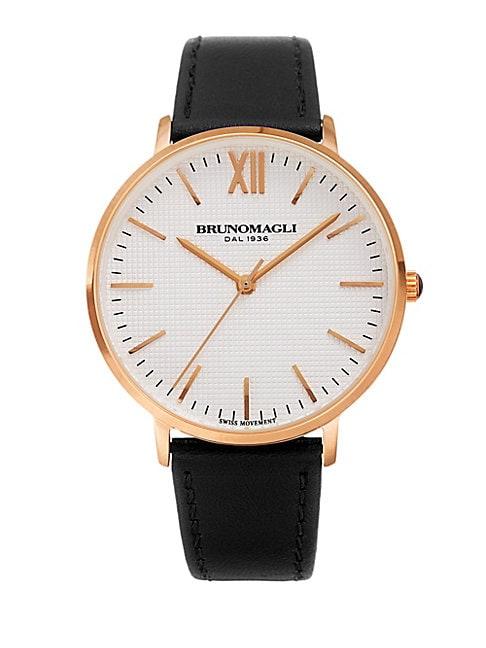 Roma Swiss Quartz Leather Strap Analog Watch