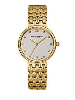 Bruno Magli - Isabella Stainless Steel Swiss Quartz Bracelet Analog Watch