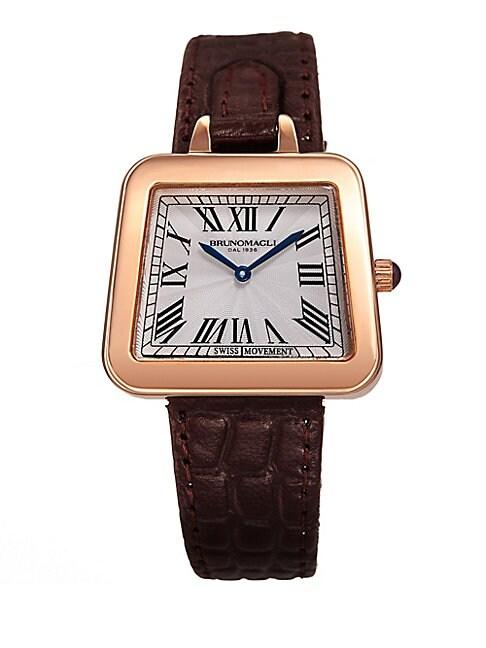 Emma Swiss Quartz Leather Strap Analog Watch