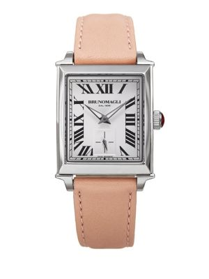 Bruno Magli Valentina Swiss Quartz Leather Strap Analog Watch