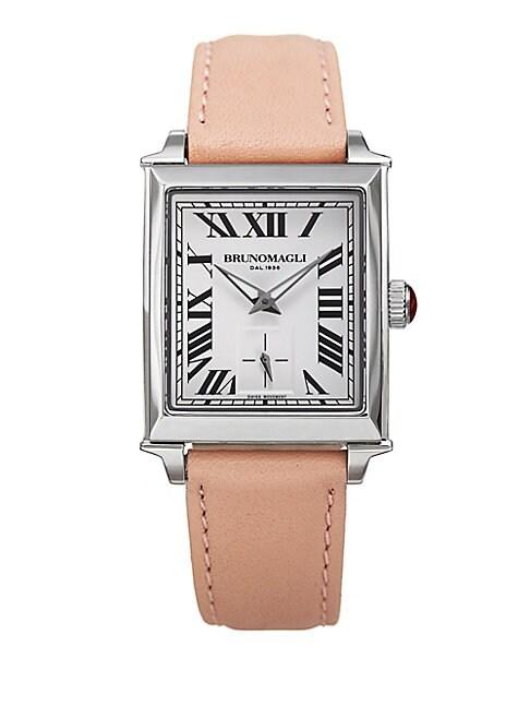 Valentina Swiss Quartz Leather Strap Analog Watch