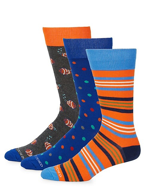 Mixed Print Socks/Pack Of 3
