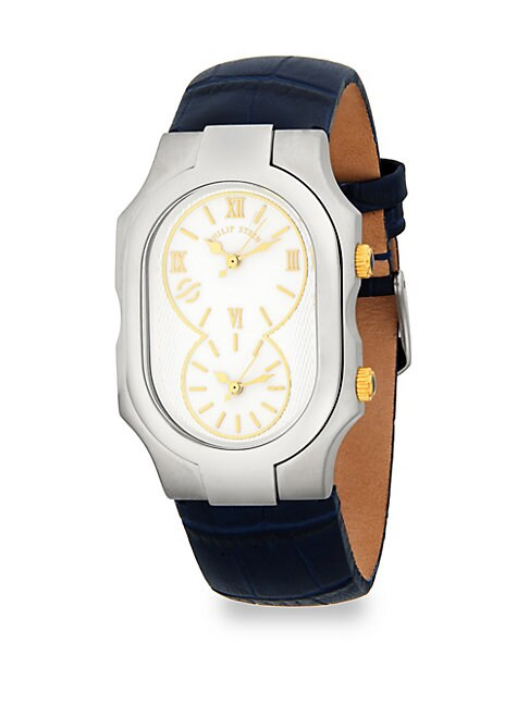 SIGNATURE LEATHER STRAP WATCH