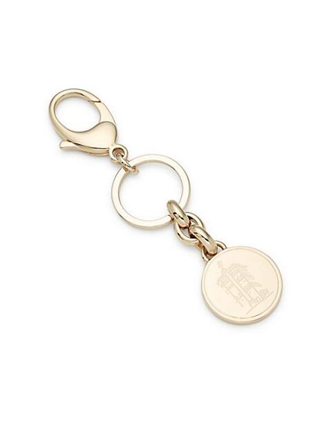 Pava Moneta Keychain, Gold Black