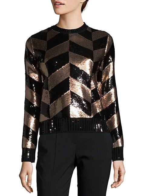 Sequin Wool Sweater