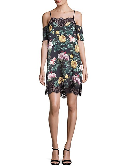 DELFI COLLECTIVE | Jane Floral Lace Trim Dress | Goxip