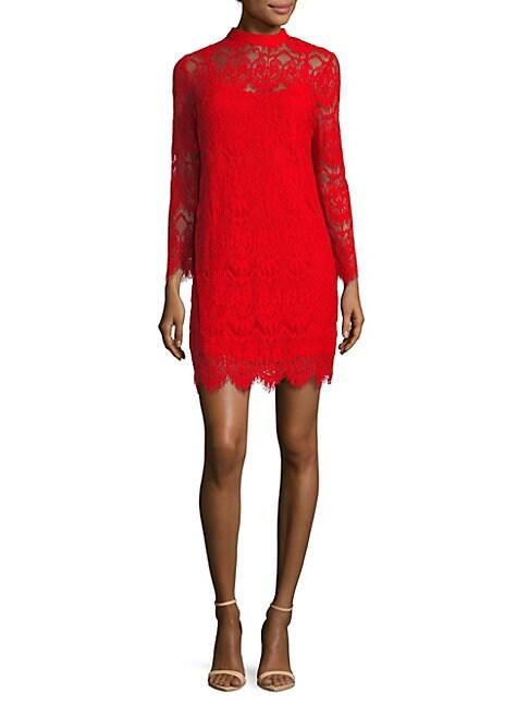Scalloped Lace Mini Dress