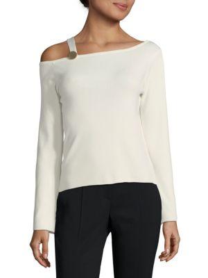 Few Moda  Asymmetric Long-Sleeve Knit Top