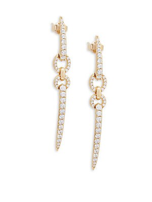 Eva Linear Crystal Earrings
