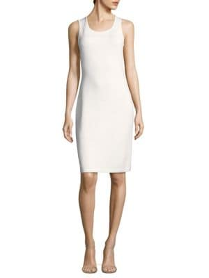 St. John Rib-Knit Knee-Length Dress