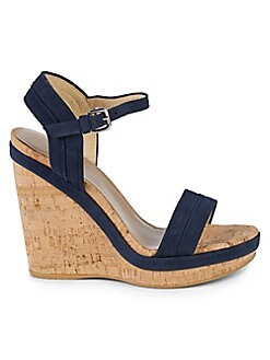 c18338a01 QUICK VIEW. Stuart Weitzman. Jezebel Suede Wedge Sandals