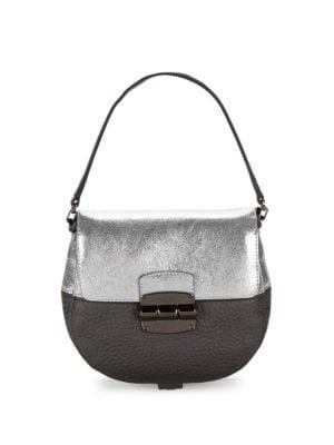 Furla  Club Colorblock Leather Mini Crossbody Bag