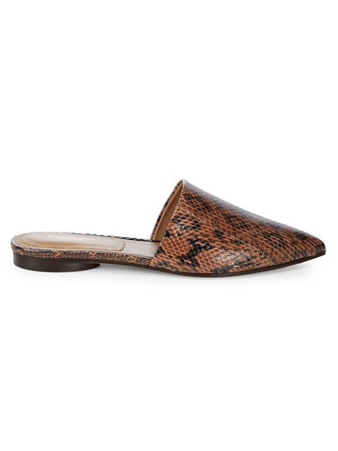 Darla Animal-Print Leather Mules