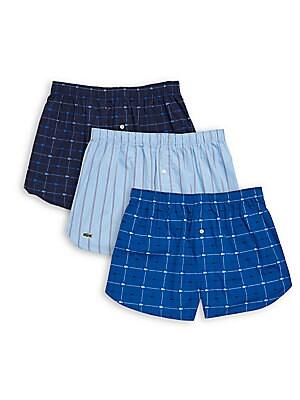 Three-Pack Cotton Boxer Shorts