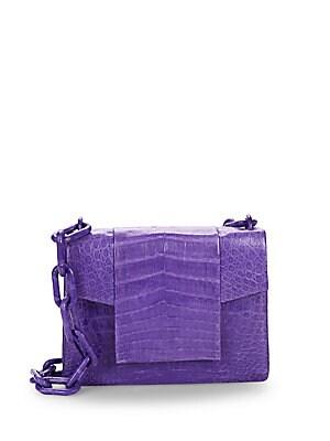 Flap Medium Crocodile Chain Shoulder Bag