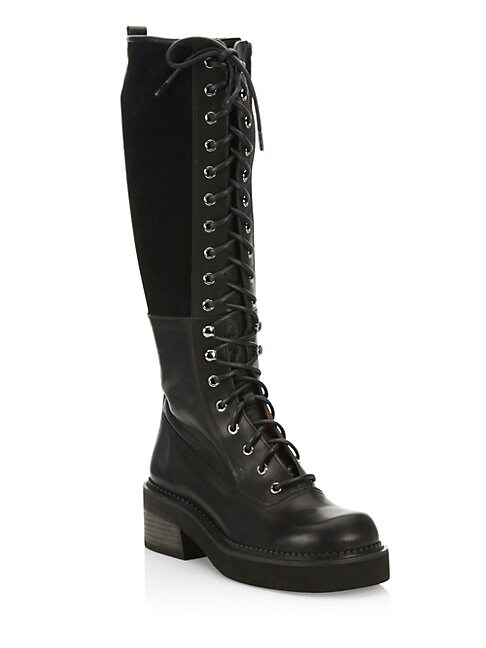 Katerina Leather Combat Boots