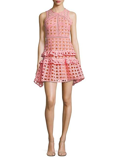 Crochet Fit-&-Flare Dress