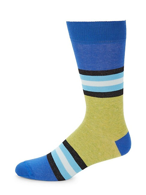 Jaspe Three Rugby Stripe Socks