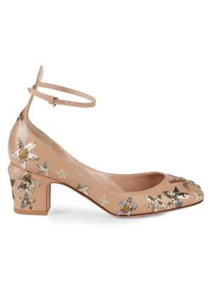 Tango Sequined Pumps in Blush