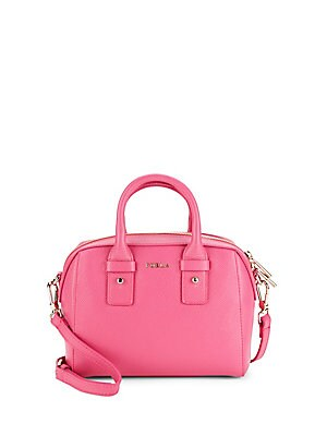 Allegra Mini Leather Satchel