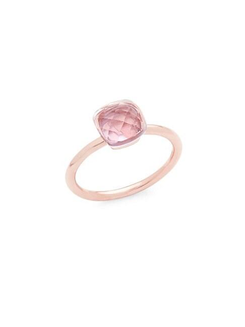 14K Rose Gold Rose De France Cushion-Cut Ring
