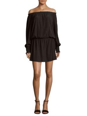 Ramy Brook  Elasticized Off-the-Shoulder Dress