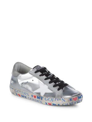 Golden Goose  Superstar Wrap Text Metallic Sneakers